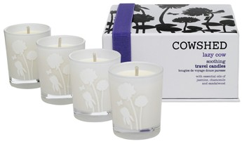 Lazy Cow Soothing Travel Candles